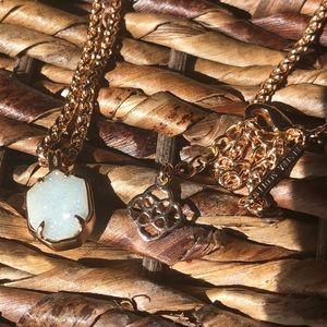Kendra Scott Oliver necklace in rose gold